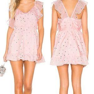 Lovers + Friends Austin Mini Dress In Powder Pink
